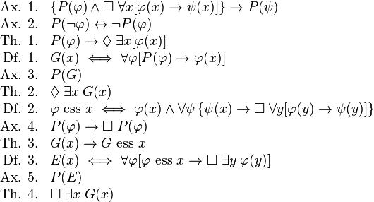 Kurt Gödel - Ontological Proof